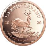 South Africa / Gold Quarter Ounce 2020 Krugerrand - reverse photo