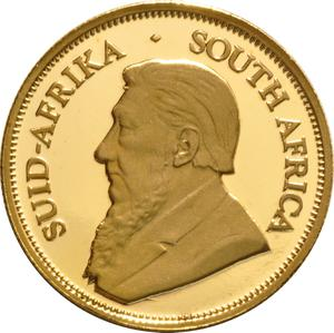 South Africa / Gold Quarter Ounce 2002 Krugerrand - obverse photo