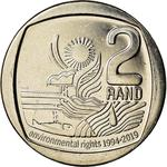 South Africa / Two Rand 2019 Environmental Rights - reverse photo
