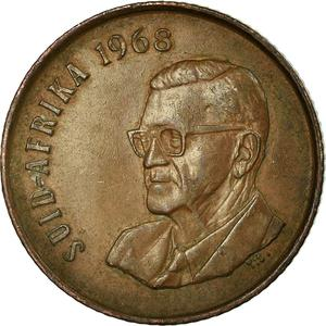 South Africa / Two Cents 1968 Swart (Afrikaans) - obverse photo