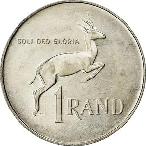 South Africa / One Rand 1978 (Silver) - reverse photo
