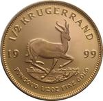 South Africa / Gold Half Ounce 1999 Krugerrand / Proof - reverse photo