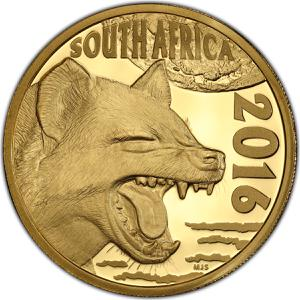 South Africa / Gold Ounce 2016 Hyena - obverse photo