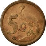 South Africa / Five Cents 1995 - reverse photo