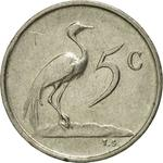 South Africa / Five Cents 1971 - reverse photo