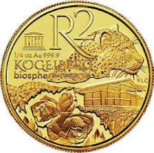 South Africa / Gold Quarter Ounce 2015 KBR - Mountains - reverse photo