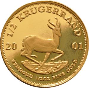 South Africa / Gold Half Ounce 2001 Krugerrand - reverse photo