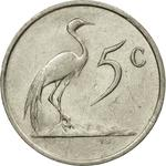 South Africa / Five Cents 1987 - reverse photo