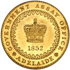 Adelaide Pound - Type II: Photo Australia 1852 pound Dentilated