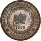 South Australia / Five Pounds / Silver restrike - obverse photo