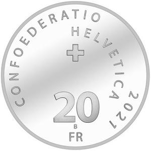 Switzerland / Twenty Francs 2021 Illusion - Bridge of Life - obverse photo