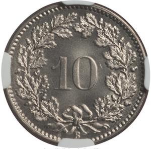 Switzerland / Ten Centimes (Rappen) 1882 - reverse photo
