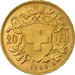 Switzerland / Twenty Francs 1949 - reverse photo