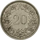 Switzerland / Twenty Centimes (Rappen) 1956 - reverse photo
