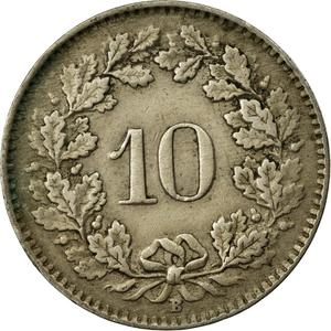 Switzerland / Ten Centimes (Rappen) 1944 - reverse photo