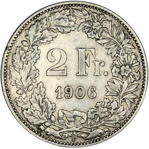 Switzerland / Two Francs 1906 - reverse photo