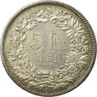 Switzerland / Five Francs 1851 - reverse photo