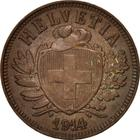 Switzerland / Two Centimes (Rappen) 1914 - obverse photo