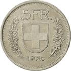 Switzerland / Five Francs 1974 - reverse photo