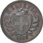 Switzerland / Two Centimes (Rappen) 1898 - obverse photo