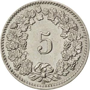 Switzerland / Five Centimes (Rappen) 1910 - reverse photo