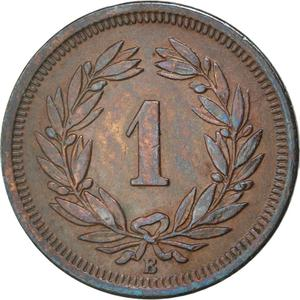Switzerland / One Centime (Rappen) 1903 - reverse photo
