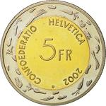 Switzerland / Five Francs 2002 L'Escalade - reverse photo