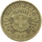 Switzerland / Five Centimes (Rappen) 1874 - obverse photo