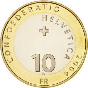 Switzerland / Ten Francs 2004 Matterhorn - obverse photo