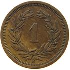 Switzerland / One Centime (Rappen) 1919 - reverse photo