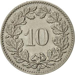 Switzerland / Ten Centimes (Rappen) 1932 - reverse photo