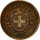 Switzerland / One Centime (Rappen) 1932 - obverse photo