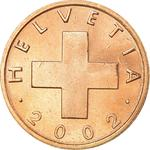 Switzerland / One Centime (Rappen) 2002 - obverse photo