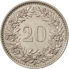 Switzerland / Twenty Centimes (Rappen) 1955 - reverse photo