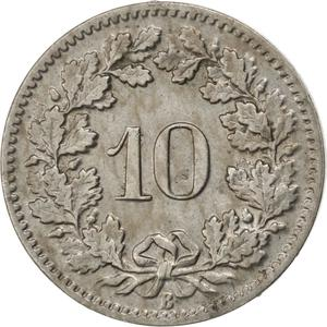Switzerland / Ten Centimes (Rappen) 1895 - reverse photo