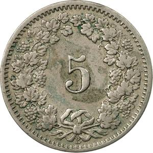 Switzerland / Five Centimes (Rappen) 1915 - reverse photo