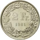 Switzerland / Two Francs 1981 - reverse photo