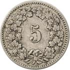 Switzerland / Five Centimes (Rappen) 1885 - reverse photo