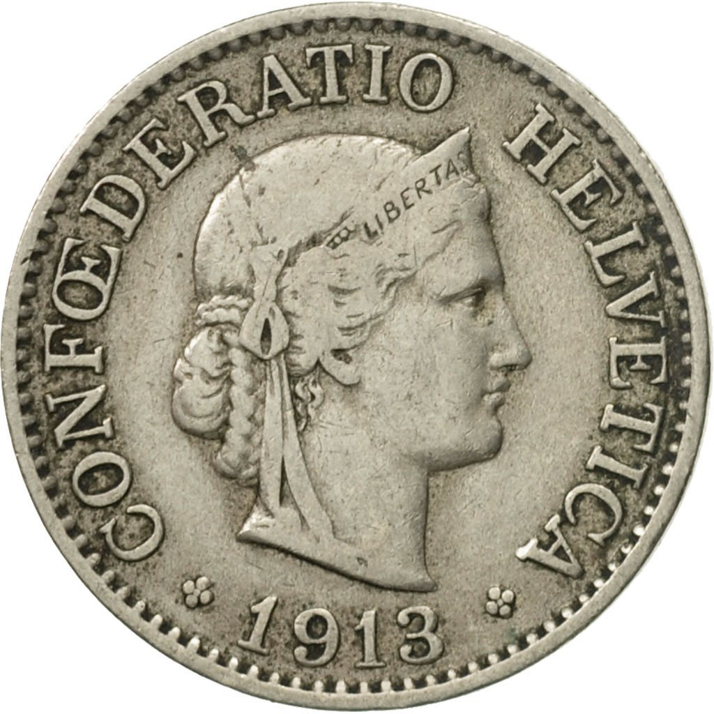 Ten Centimes (Rappen) 1913: Photo Coin, Switzerland, 10 Rappen 1913
