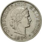 Switzerland / Twenty Centimes (Rappen) 1884 - obverse photo