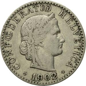 Switzerland / Twenty Centimes (Rappen) 1902 - obverse photo