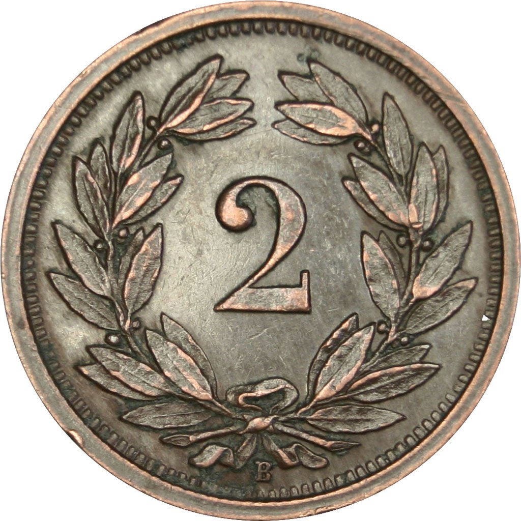 Two Centimes (Rappen) 1926: Photo Coin, Switzerland, 2 Rappen 1926