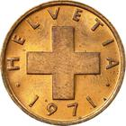 Switzerland / One Centime (Rappen) 1971 - obverse photo