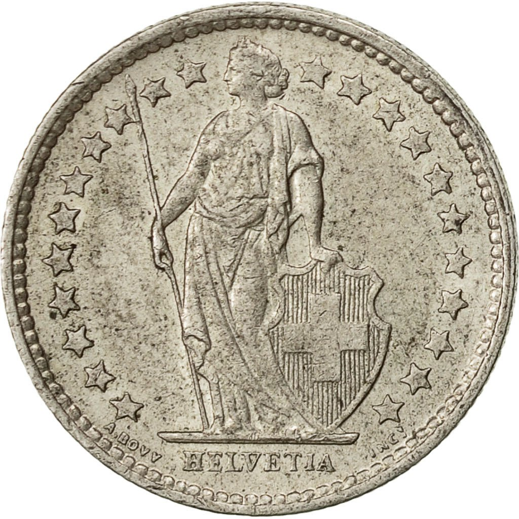 Half Franc 1964: Photo Coin, Switzerland, 1/2 Franc, 1964