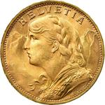 Switzerland / Twenty Francs 1935 L-B - obverse photo
