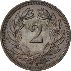 Switzerland / Two Centimes (Rappen) 1904 - reverse photo