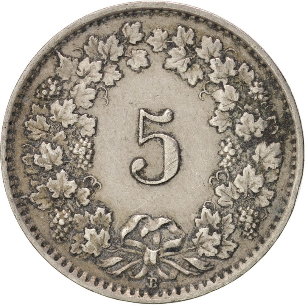 Five Centimes (Rappen) 1929: Photo Coin, Switzerland, 5 Rappen 1929