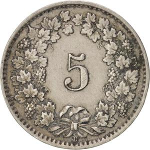 Switzerland / Five Centimes (Rappen) 1929 - reverse photo
