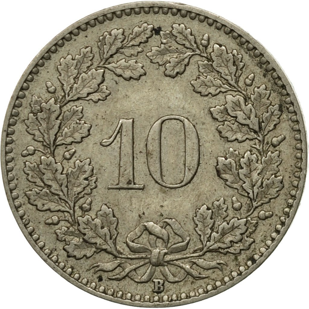 Ten Centimes (Rappen) 1928: Photo Coin, Switzerland, 10 Rappen 1928