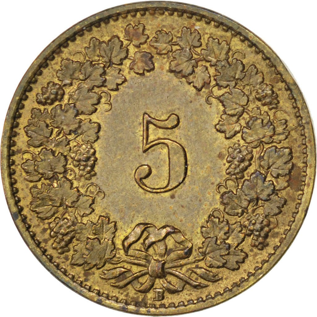 Five Centimes (Rappen) 1918: Photo Switzerland 2 Rappen 1918
